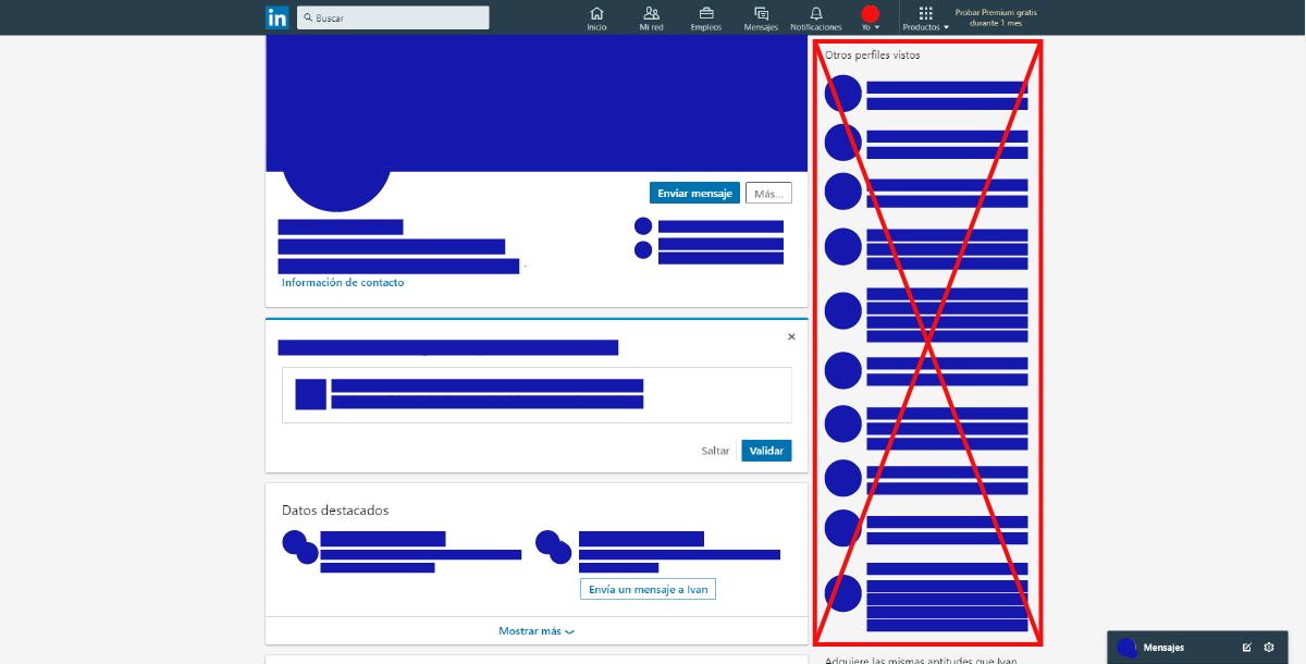 Eliminar otros perfiles vistos en tu perfil de LinkedIn
