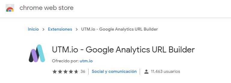 Extensión de Chrome para UTMs