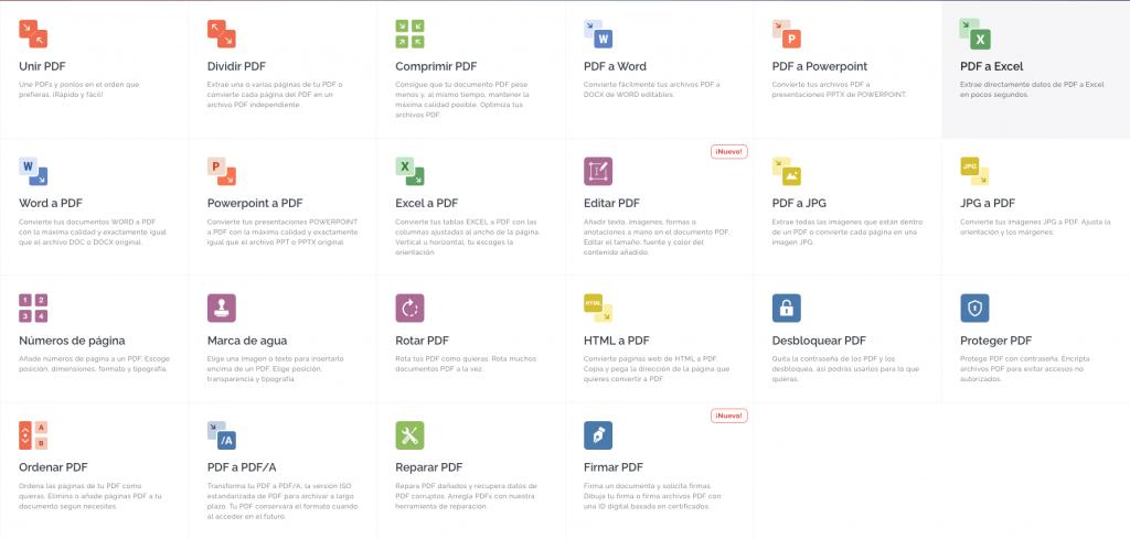 herramientas online para editar pdf